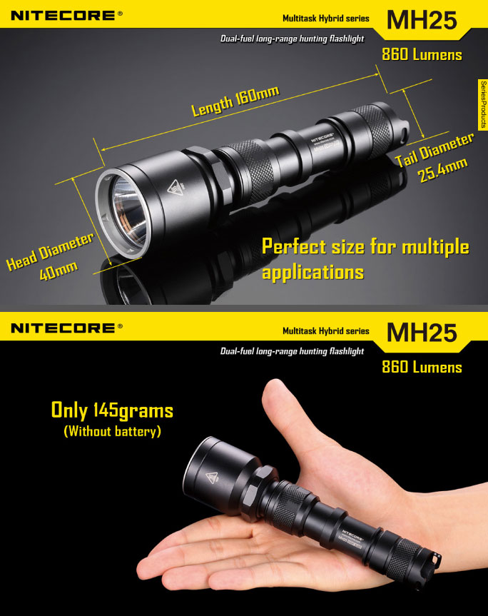Lampe torche nitecore mh25 nightblade 960lumens lampe - Lampe torche longue portee rechargeable ...