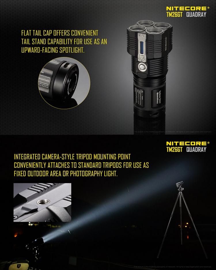 lampe torche nitecore rechargeable tm26gt 3500lumens ultra puissante longue port e. Black Bedroom Furniture Sets. Home Design Ideas