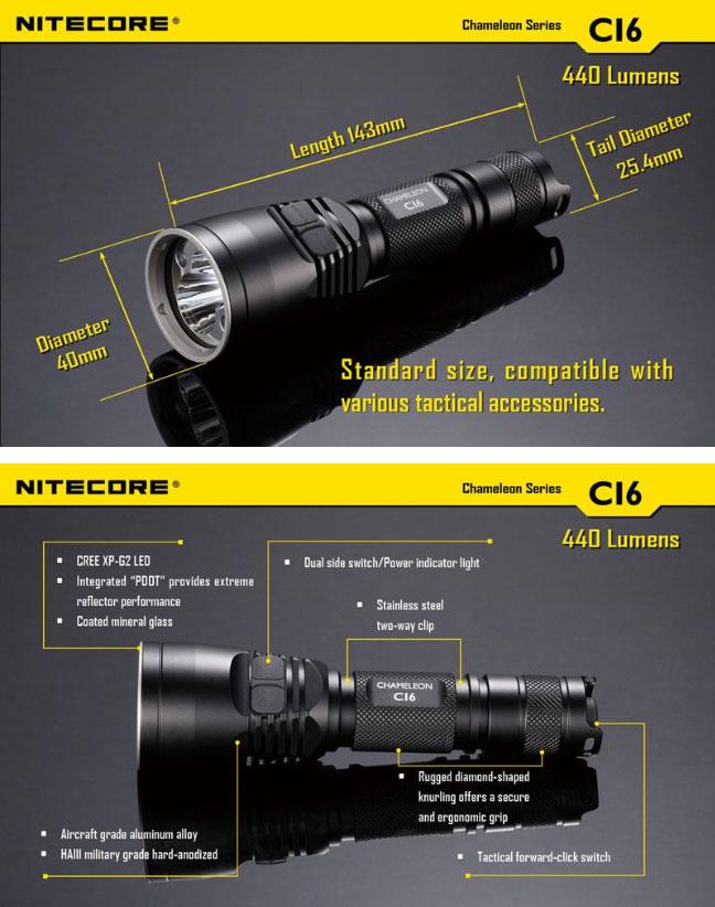 Nitecore Ci6 440lumensLumière 440lumensLumière Lampe Ci6 Lampe Infrarouge Nitecore Nitecore Infrarouge Lampe sdhCtQr