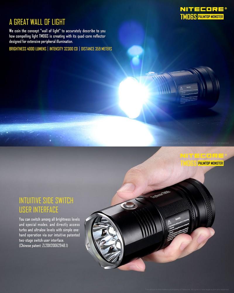 Lampe Lampe Torche Nitecore Torche Tm06s 4000lumens qVSMzpGU