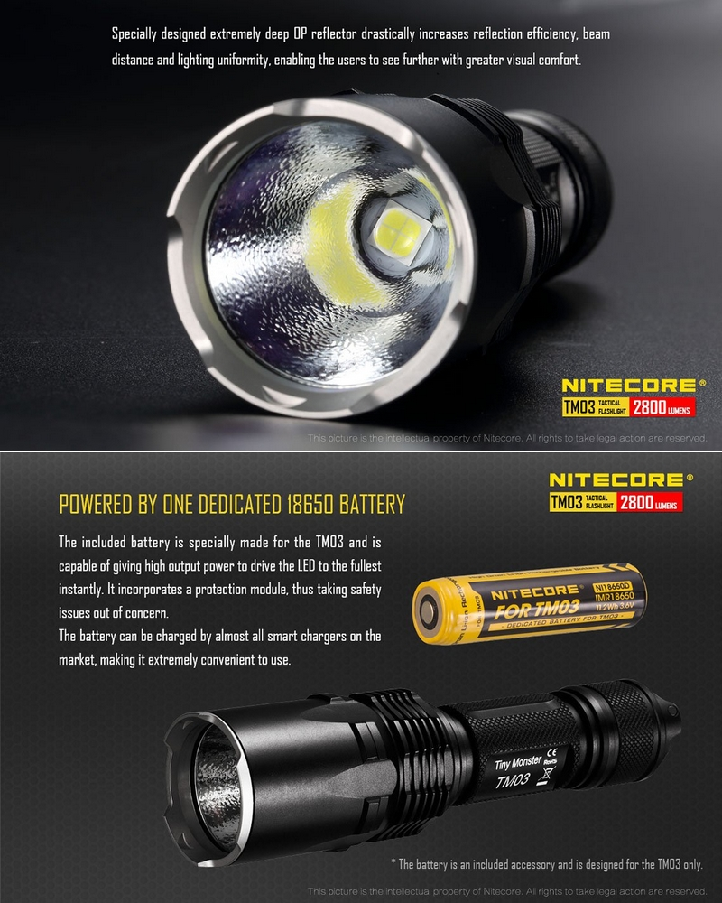 2800lumens Nitecore Lampe Tm03 Torche Nitecore Lampe Torche SpLqVzMUG
