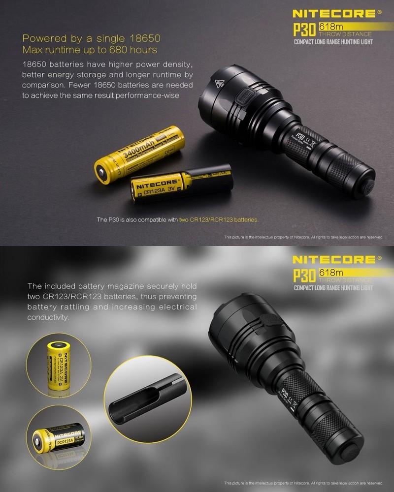 Lampe torche nitecore p30 1000lumens ultra longue port e - Lampe torche longue portee ...