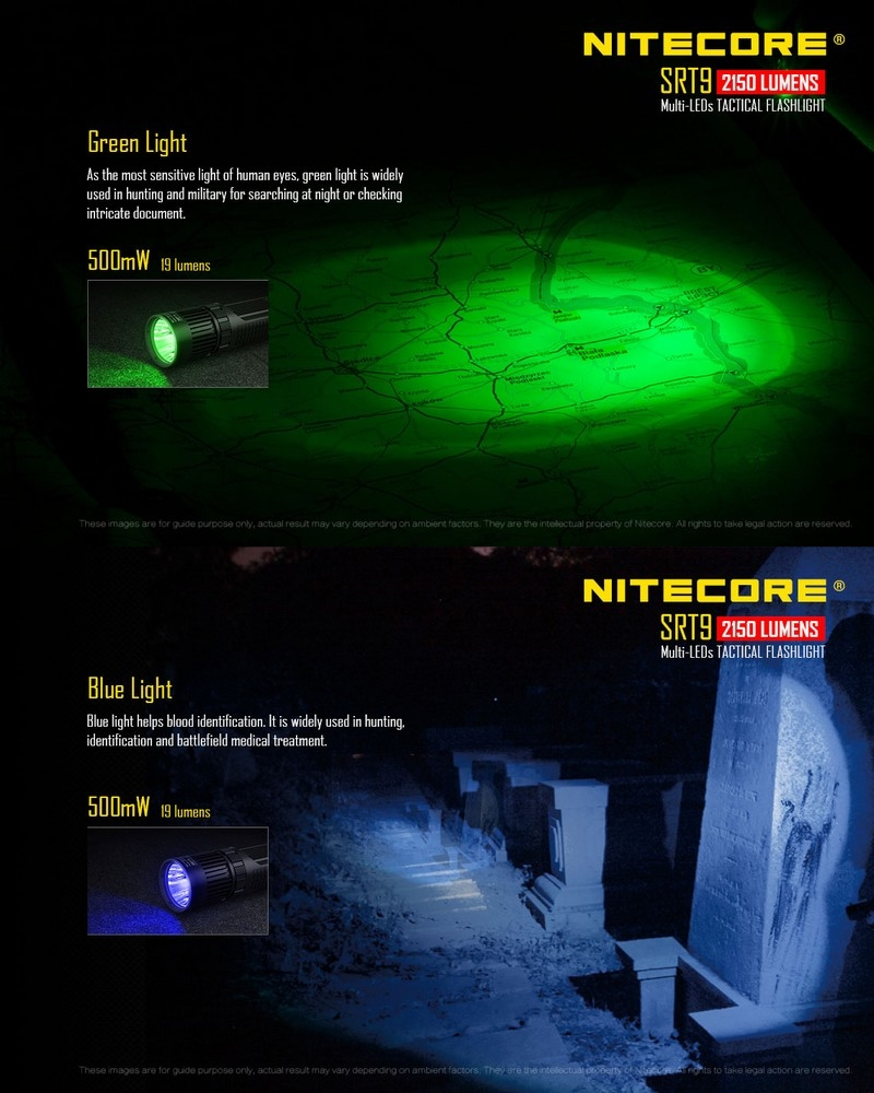 C4al5jr3q Avec Nitecore Lumière Lampe Srt9 2150lumens Uv kXOPZiu
