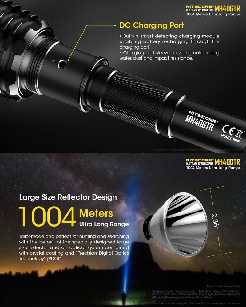 Nitecore Nitecore Lampe 1200lumens Lampe Mh40gtr kXNn0wP8O